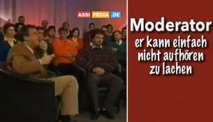 holländischer Moderator kann nicht aufhören zu lachen